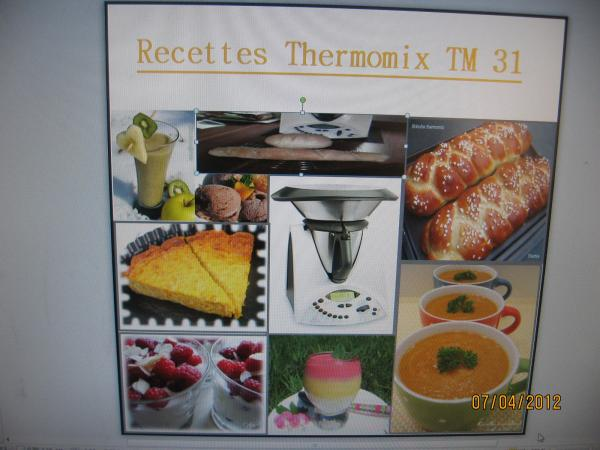 + de 2000 recettes thermomix TM31