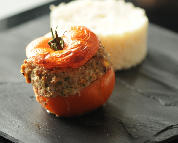Tomate farcie au boeuf