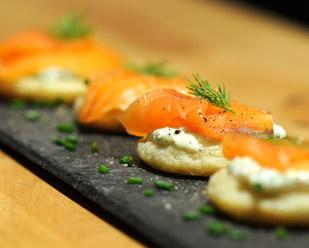 Blinis crème & saumon
