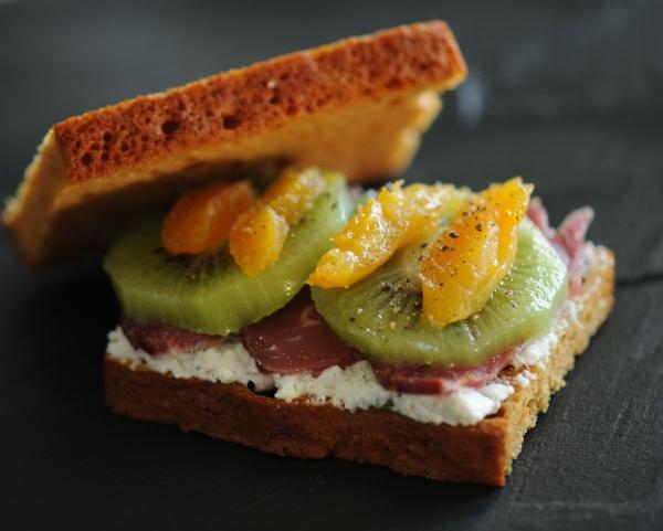 Sandwich pain d'épices, magret ...