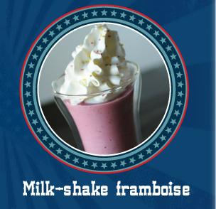 Milk-shake framboise, vanille