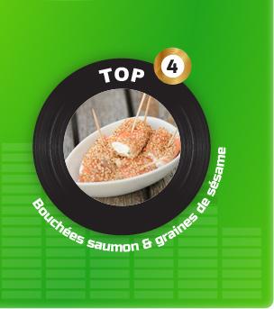 Bouchées de saumon et graines de sésame