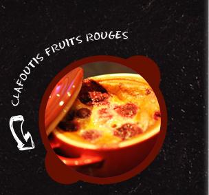 Clafoutis aux fruits rouges en cocottes