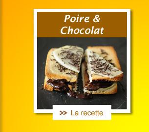 Croque poire chocolat