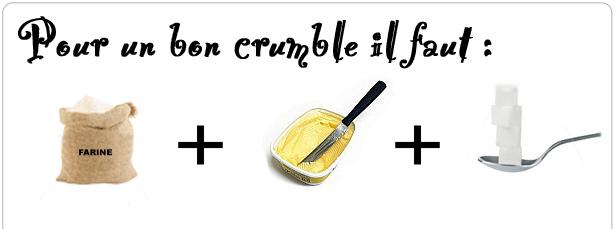 Pour un bon crumble ...