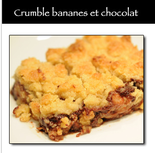 Crumble banane et chocolat