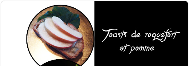 Toasts de roquefort et pomme