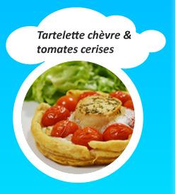 Tartelette chèvre et tomates cerises