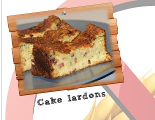 Cake lardons sans gluten