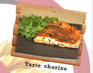 Tarte chorizo sans gluten