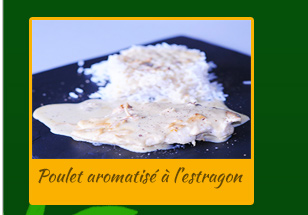 Poulet aromatisé à l'estragon (antirhume)