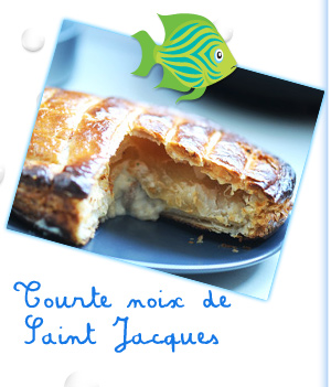 Tourte noix de Saint Jacques