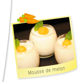 Mousse de melon