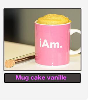 Mug cake vanille