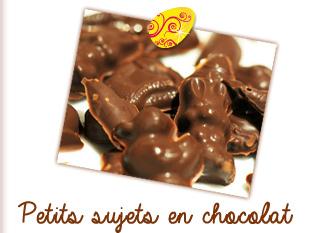 Petits sujets en chocolat