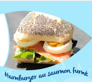 Hamburger au saumon fumé