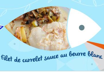 filet de carrelet sauce au beurre blanc