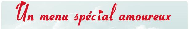 Un menu spécial amoureux