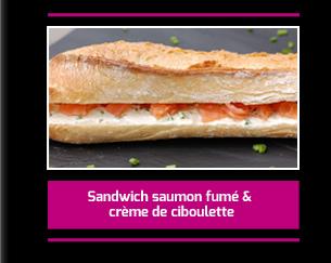 Sandwich au saumon fumé et crème de ciboulette