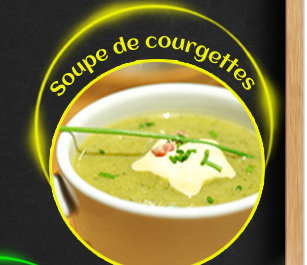 Soupe de courgettes et sa crème champêtre