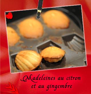 madeleines au citron et au gingembre