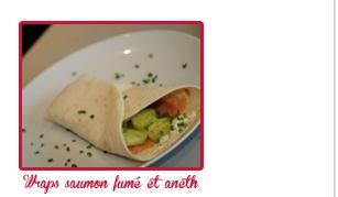 Wraps saumon fumé et aneth